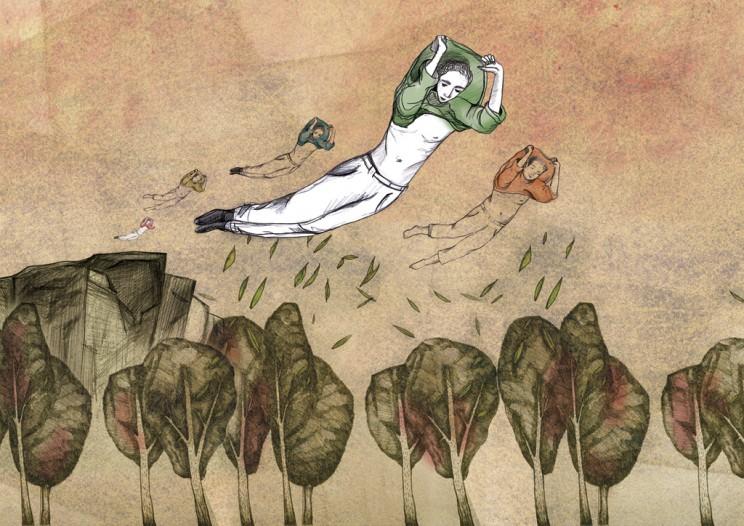 پرواز در خواب - تصویرسازی پرنیان