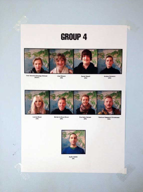 گروه چهار برای انتخاب دورهی ۱۹ در KaosPilot - سال ۲۰۱۲