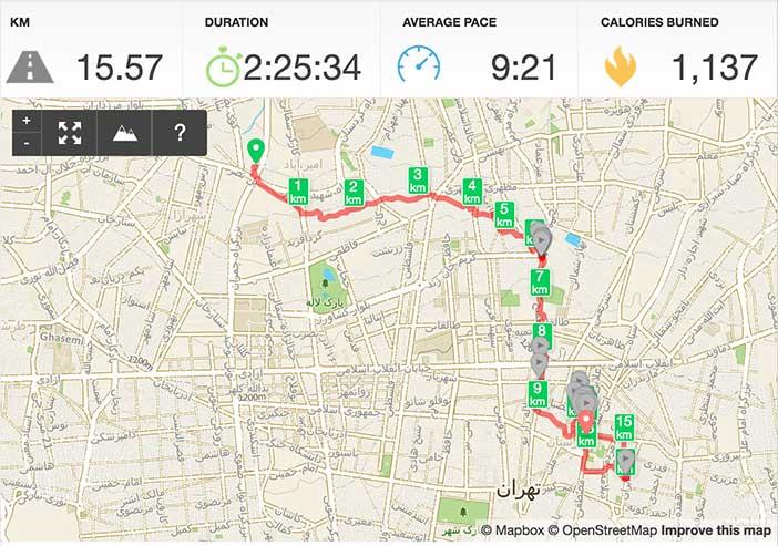 مسیر پیادهروی به سمت بازار تهران