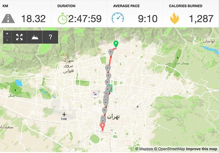 مسیر پیادهروی از میدان تجریش تا میدان راهآهن