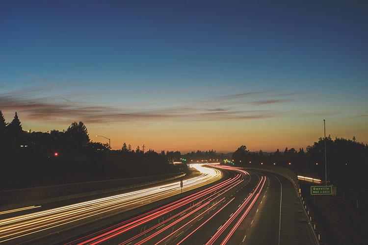 ترافیک دم غروب