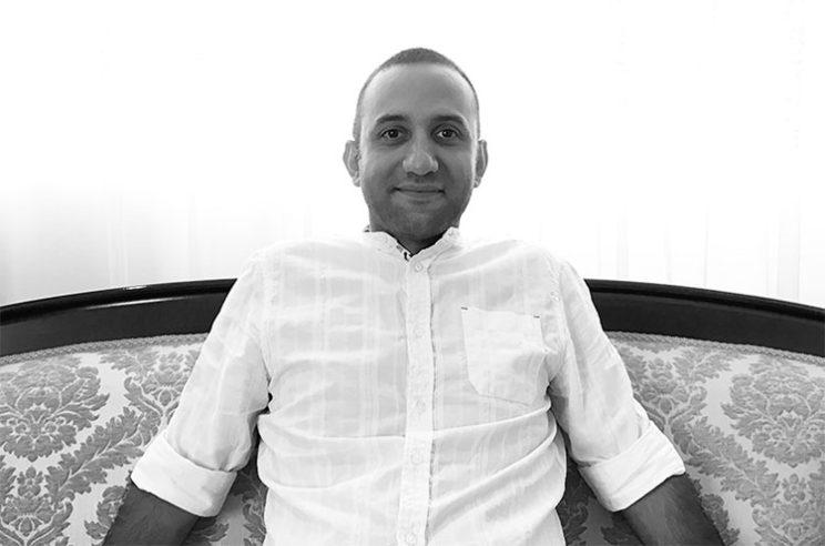 تصویر آیدین حبیبی در تولد ۳۵ سالگی