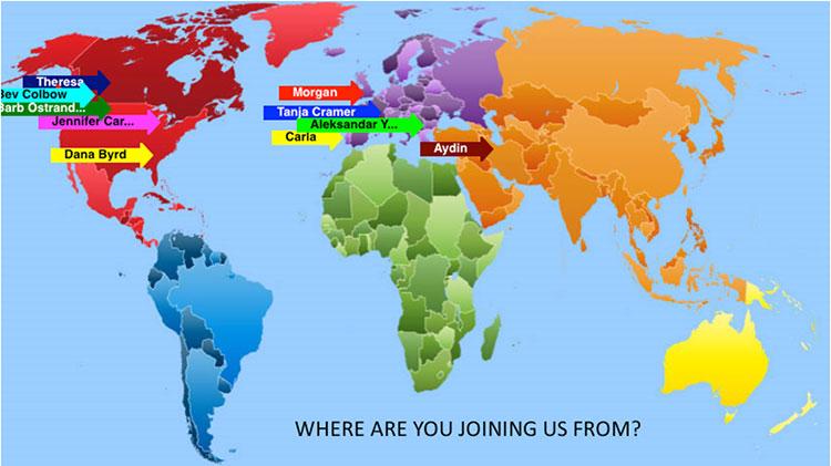 نقشهٔ جغرافیایی شرکتکنندگان دورهٔ اول راهبری